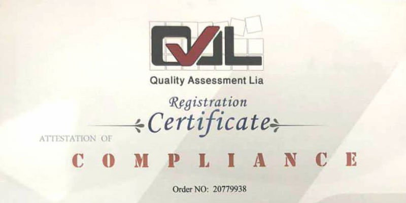 Certificate of Tracer PK 20